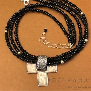 Silpada N1500 necklace with SS Cross Pendant S1514